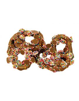 Asher Milk Gourmet Pretzel with Mini Choc Nonpareils 6lb
