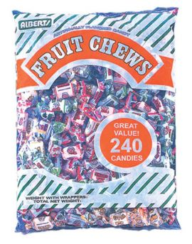 Alberts Fruit Chews Assorted Fruit 240ct