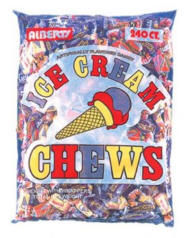 Alberts Fruit Chews Ice Cream 240ct