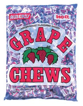 Alberts Fruit Chews Grape 240ct