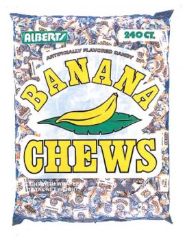 Alberts Fruit Chews Banana 240ct