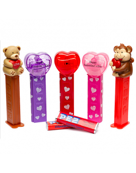 Pez Valentine Dispensers 12ct
