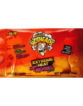 Warheads Hotheads Extreme Heat Worms 2oz 15ct
