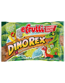 Efrutti Share Size Sour Dino Rex Gummi Candy 1.4oz bag 12ct