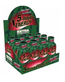 5 Hour Energy Extra Strength Strawberry Watermelon 2.5oz 12ct-18ct  box