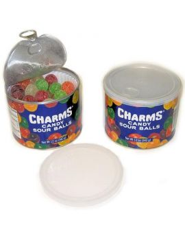 Charms Candy Sour Balls Old Fashioned Canister 12oz 12ct