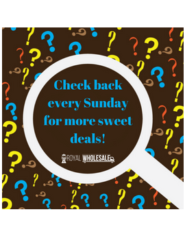 Check back every Sunday for more sweet deals!