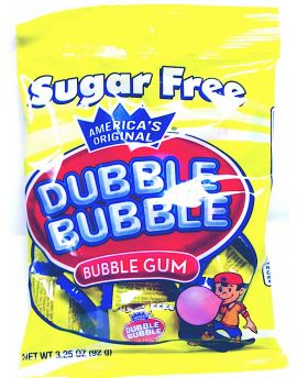 Dubble Bubble Sugar Free Original Twist 3.25oz Peg Bag 12ct (special order)