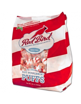 Piedmont Red Bird Peppermint Soft Puff Candies Stand Up Bag 240ct 46oz