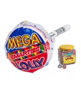 Smarties Mega Double Lollipops 60ct Tub