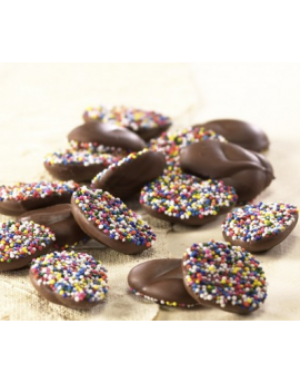 Asher Milk Chocolate Nonpareils With Multi Seeds 8lb