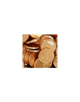 Palmer Gold Foiled Wrapped Chocolate Coins - Half Dollar - 12lb Bulk