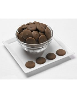 Merckens Cocoa Lite Milk Chocolate Melting Wafers 50lb