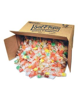 Spangler Saf-T-Pop Assorted Flavors Individually Wrapped  Bulk 25lb 1000ct