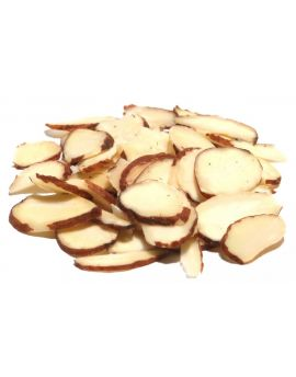 Sliced Natural Almonds 25lb (skin on)