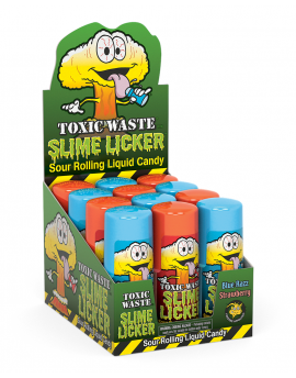 Toxic Waste Slime Lickers Sour Rolling Liquid Candy12ct