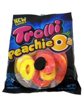 Trolli Peachie O's Rings 4.25oz Bag 12ct