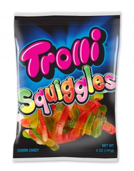 Trolli Squiggles Gummi Worms 5oz Bag 12ct