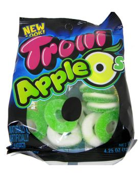 Trolli Apple O's Rings 4.25oz Bag 12ct