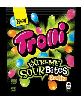Trolli Extreme Sour Bites Fruitz 4.25oz Bag 12ct