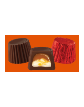 Asher Foiled Dark Caramel and Marshmallow Mini Cups 7lb