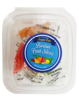 Boston Sugar Free Fruit Slices 5oz tub 16ct