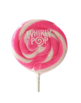 Adams & Brooks Pink & White Whirly Pop 1.5oz 24ct