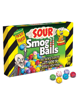 Toxic Waste Sour Smog Balls Theatre Boxes 3.5oz 12ct
