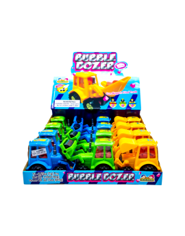 Kidsmania Bubble Dozer Bubblegum Filled Construction Trucks 12ct