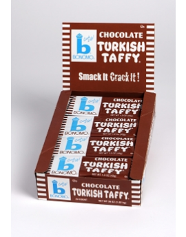 Bonomo Turkish Taffy Chocolate 1.5oz Bar 24ct