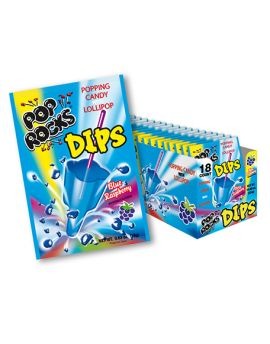 Pop Rock Dips Sour Blue Raspberry 18ct