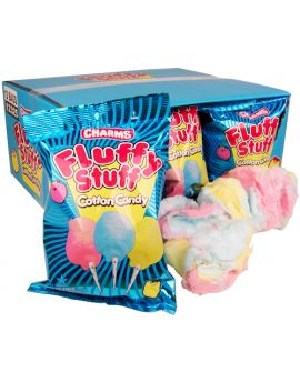 Charms Fluffy Stuff Cotton Candy Mini 1 oz Bag 12ct