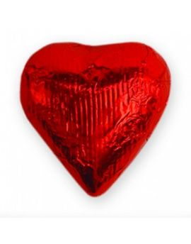 Niagara Foiled Solid Milk Red Hearts 10 lbs