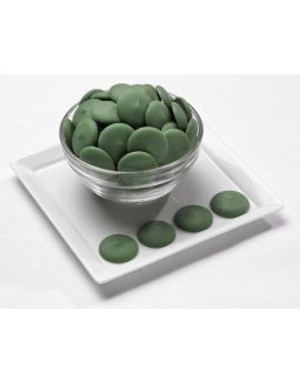NOT AVAILABLE ESTIMATED MARCH 2021 Merckens Dark Green Melting Wafers 25lb