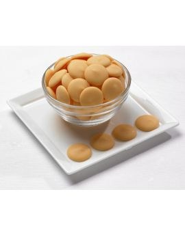 Merckens Peach Melting Wafers 25lb