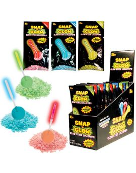 Koko Snap-N-Glow Lollipop with Popping Candy 18ct