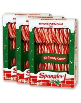Spangler Christmas Candy Canes 12pc 44ct Case