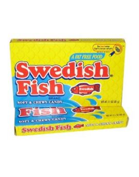 Red Swedish Fish Original 3.1oz Theater Box 12ct