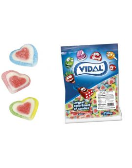 Vidal Triple Assorted Gummy Sugar Hearts 4.4lb