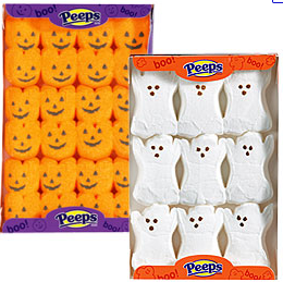 Peeps Pumpkins and Ghosts