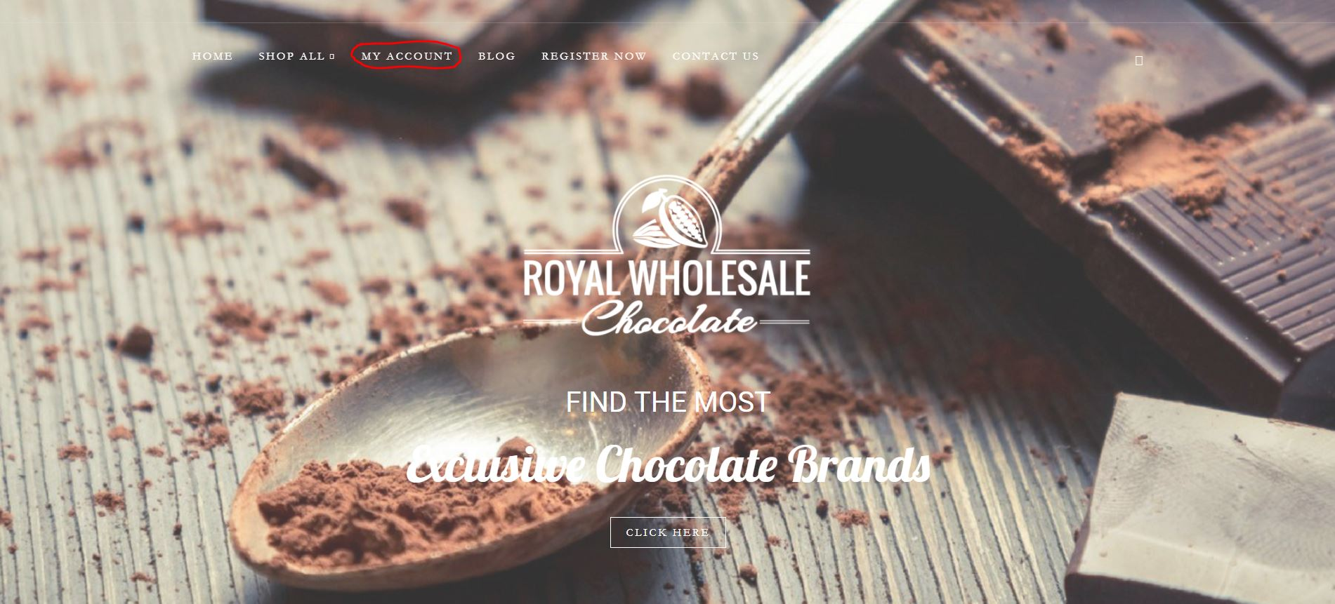 Royal Wholesale Chocolate My Account