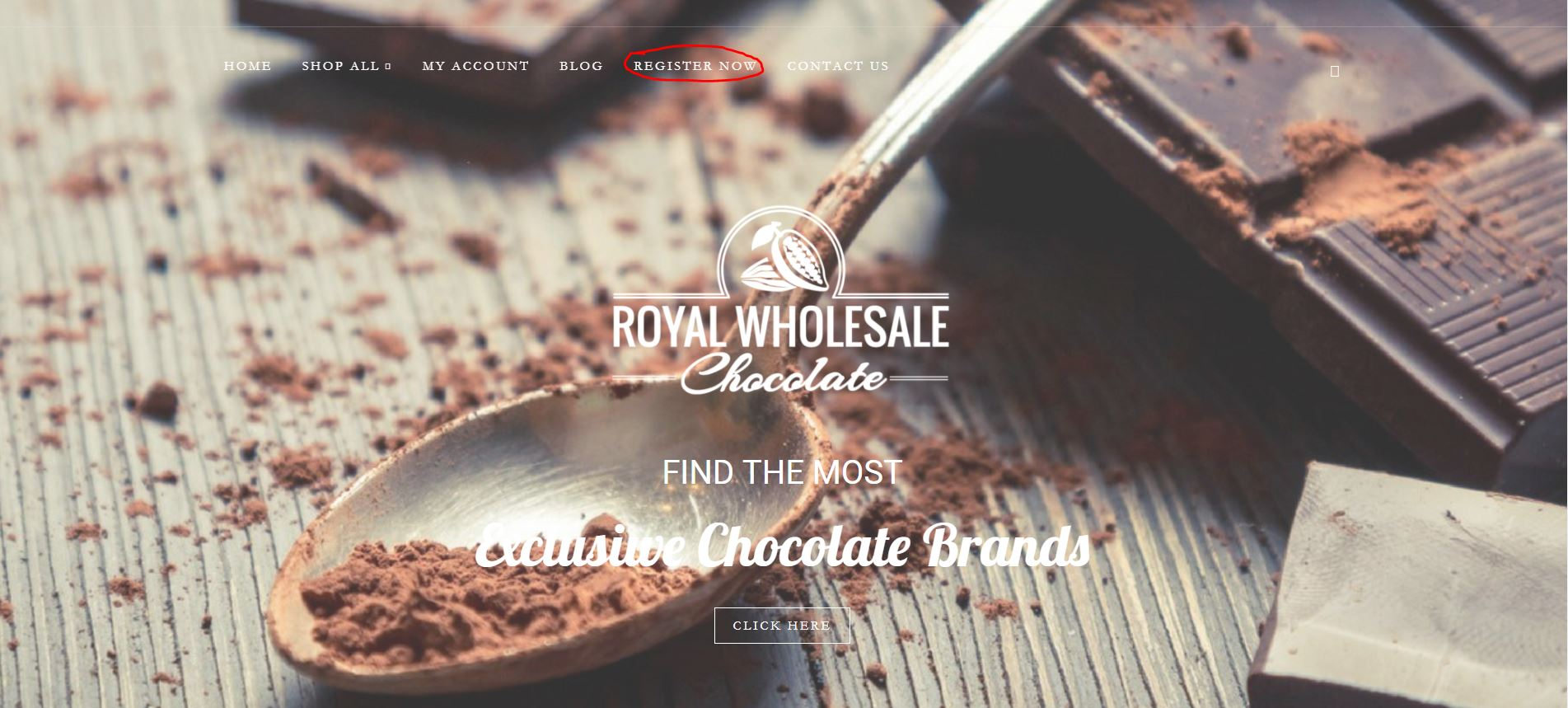 Royal Wholesale Chocolate Register Now